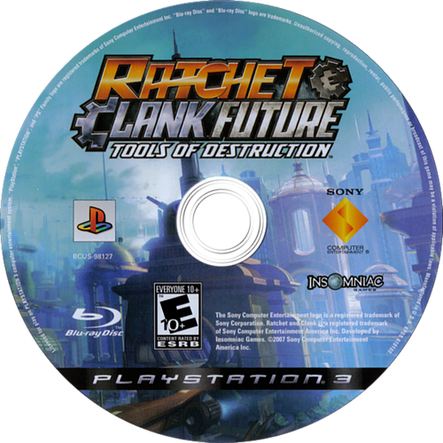 Ratchet & Clank: Future - Tools of Destruction PS3 discM (BCUS98127)