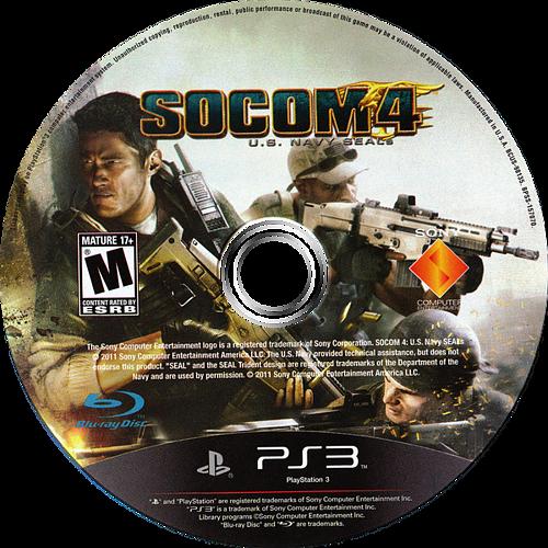 SOCOM 4: U.S. Navy SEALs PS3 discM (BCUS98135)