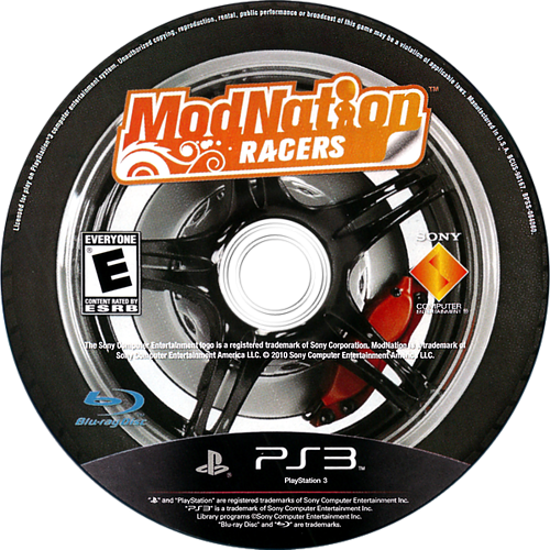 ModNation Racers PS3 discM (BCUS98167)