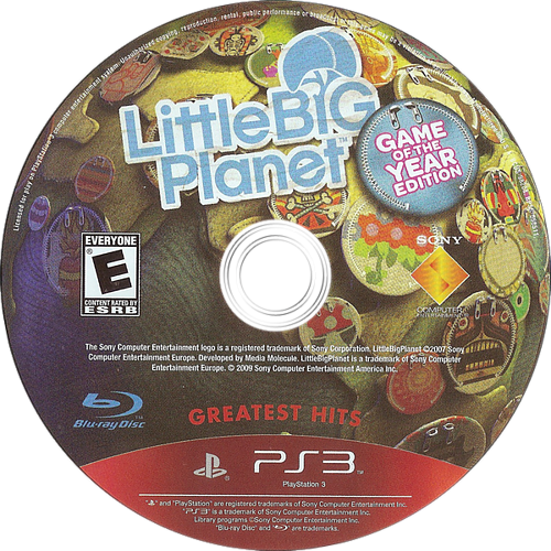 LittleBigPlanet (Game of the Year Edition) Array discM (BCUS98208)