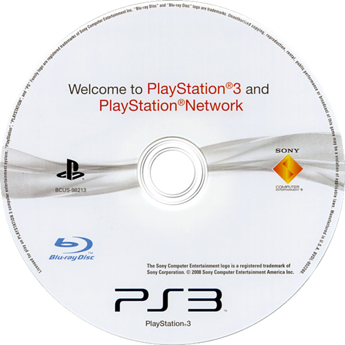 Welcome to PlayStation Network and PlayStation 3 Slim PS3 discM (BCUS98213)