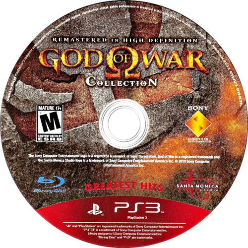 God of War Collection PS3 discM (BCUS98229)