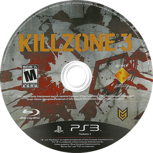 Killzone 3 PS3 discM (BCUS98234)