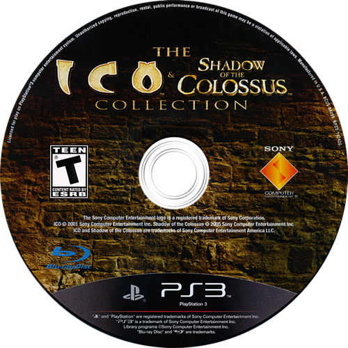 The ICO & Shadow of the Colossus Collection PS3 discM (BCUS98259)