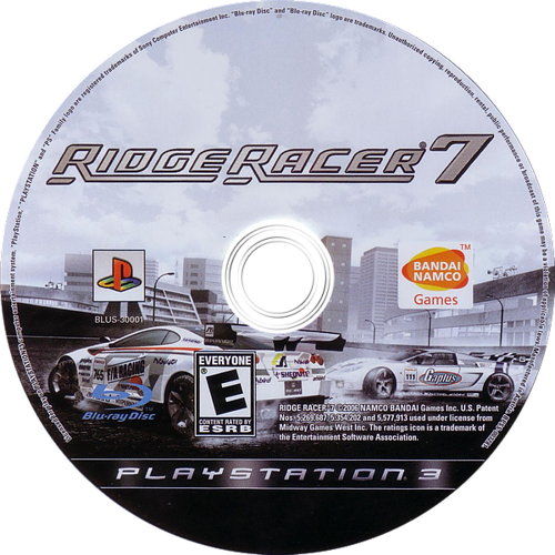Ridge Racer 7 PS3 discM (BLUS30001)