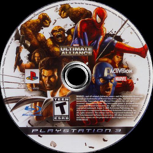 Marvel: Ultimate Alliance PS3 discM (BLUS30010)
