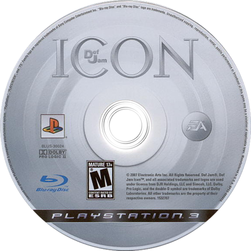 Def Jam: Icon PS3 discM (BLUS30024)