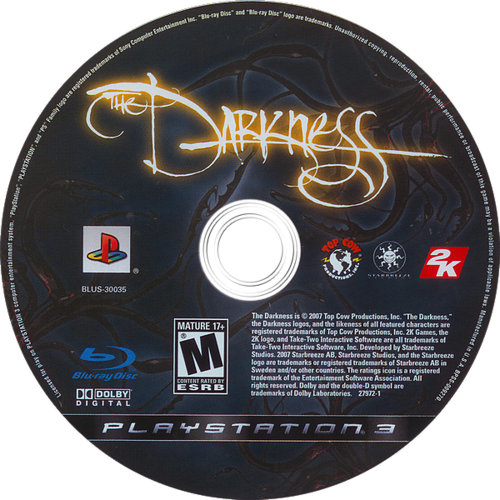 The Darkness PS3 discM (BLUS30035)