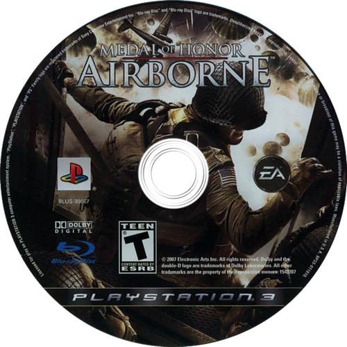 Medal of Honor: Airborne PS3 discM (BLUS30067)