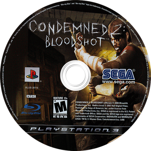 Condemned 2: Bloodshot PS3 discM (BLUS30115)