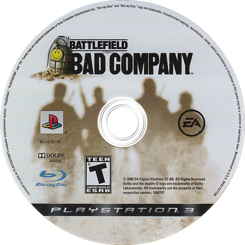 Battlefield: Bad Company PS3 discM (BLUS30118)