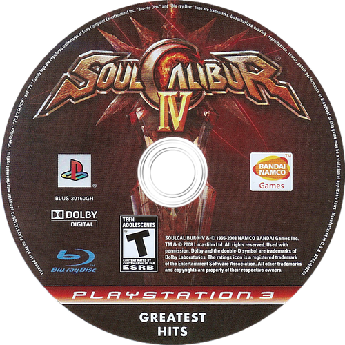 Soul Calibur IV PS3 discM (BLUS30160)