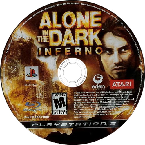 Alone in the Dark: Inferno PS3 discM (BLUS30232)