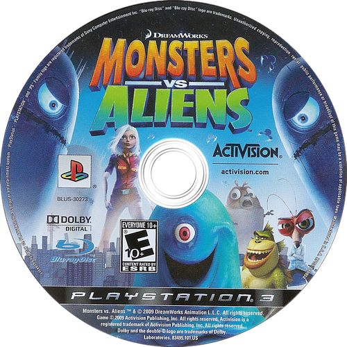 Dreamworks' Monsters vs. Aliens PS3 discM (BLUS30273)