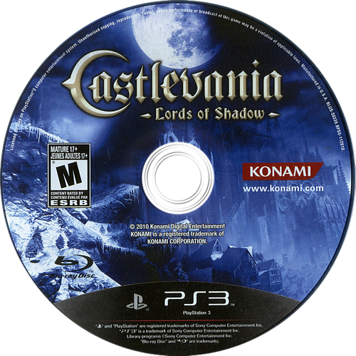 Castlevania: Lords of Shadow PS3 discM (BLUS30339)