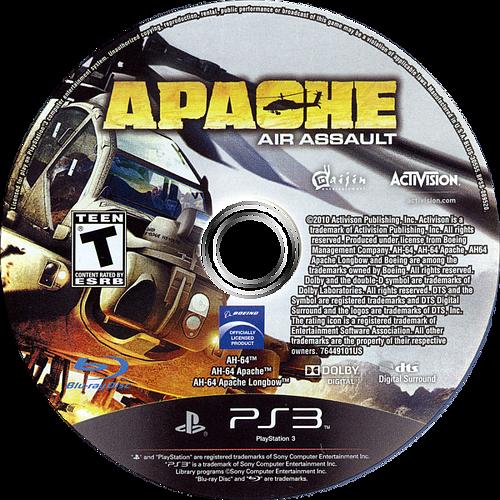 Apache: Air Assault PS3 discM (BLUS30555)