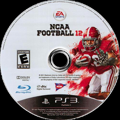 NCAA Football 12 PS3 discM (BLUS30745)
