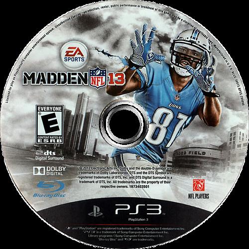 Madden NFL 13 PS3 discM (BLUS30973)