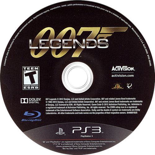 007 Legends PS3 discM (BLUS30983)