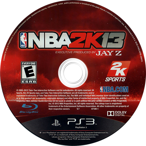 NBA 2K13 PS3 discM (BLUS31028)