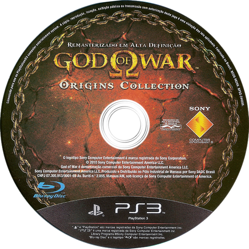 God of War Origins Collection PS3 discM (BCUS98289)