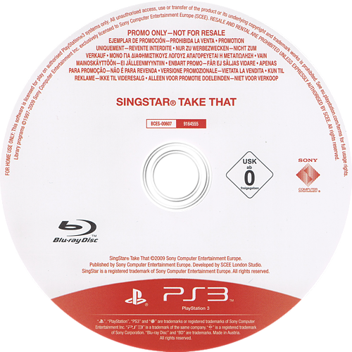 SingStar: Take That PS3 discMB (BCES00607)