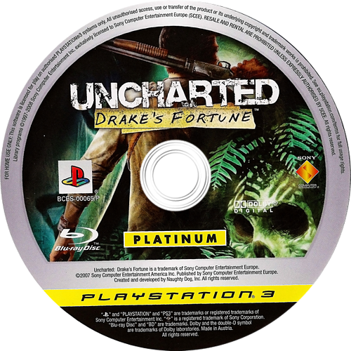 Uncharted: Drake's Fortune PS3 discMB2 (BCES00065)