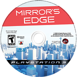 Mirror's Edge PS3 disc (BLUS30179)
