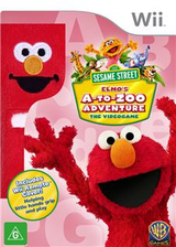 Sesame Street: Elmo's A-to-Zoo Adventure Wii cover (SS3PWR)