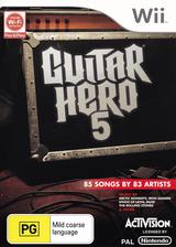 Guitar Hero 5 Wii cover (SXEP52)