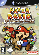 Paper Mario: Die Legende Vom Äonentor GameCube cover (G8MP01)
