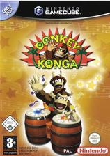 Donkey Konga GameCube cover (GKGP01)