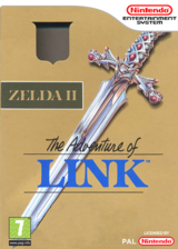 Zelda II: The Adventure of Link VC-NES cover (FA9P)
