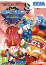 Wonder Boy III: Monster Lair VC-MD cover (MCSP)