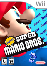 Pwned Super Mario Bros. Wii CUSTOM cover (PWNP69)