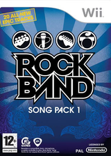 Rock Band Song Pack 1 Wii cover (RREP69)