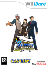 Phoenix Wright: Ace Attorney - Trials and Tribulations WiiWare cover (W3GI)