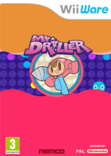 Mr. Driller W WiiWare cover (WDRP)