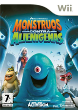Monstruos contra Alienígenas Wii cover (RVZP52)