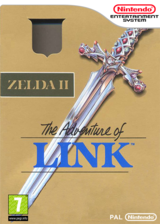 Zelda II : The Adventure of Link pochette VC-NES (FA9P)