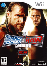 WWE SmackDown vs. Raw 2009 pochette Wii (RW9X78)