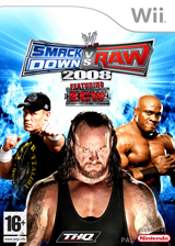 WWE SmackDown vs. Raw 2008 pochette Wii (RWWP78)