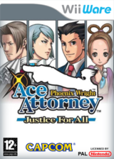 Phoenix Wright Ace Attorney:Justice for All pochette WiiWare (W2GP)