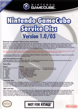 GameCube Service Disc GameCube cover (301E01)