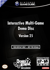 Interactive Multi-Game Demo Disc - Version 25 GameCube cover (D68E01)