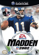Madden NFL 2002 GameCube cover (GMDE69)