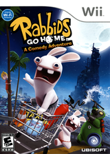 Rabbids Go Home Wii cover (RGWE41)