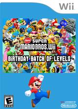 New Super Mario Bros. Wii - Birthday Batch of Levels CUSTOM cover (SMNE46)