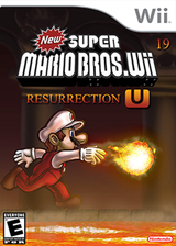 New Super Mario Bros. Wii 19 Resurrection U CUSTOM cover (SURE01)