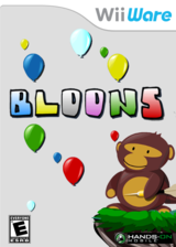 Bloons WiiWare cover (W2LE)